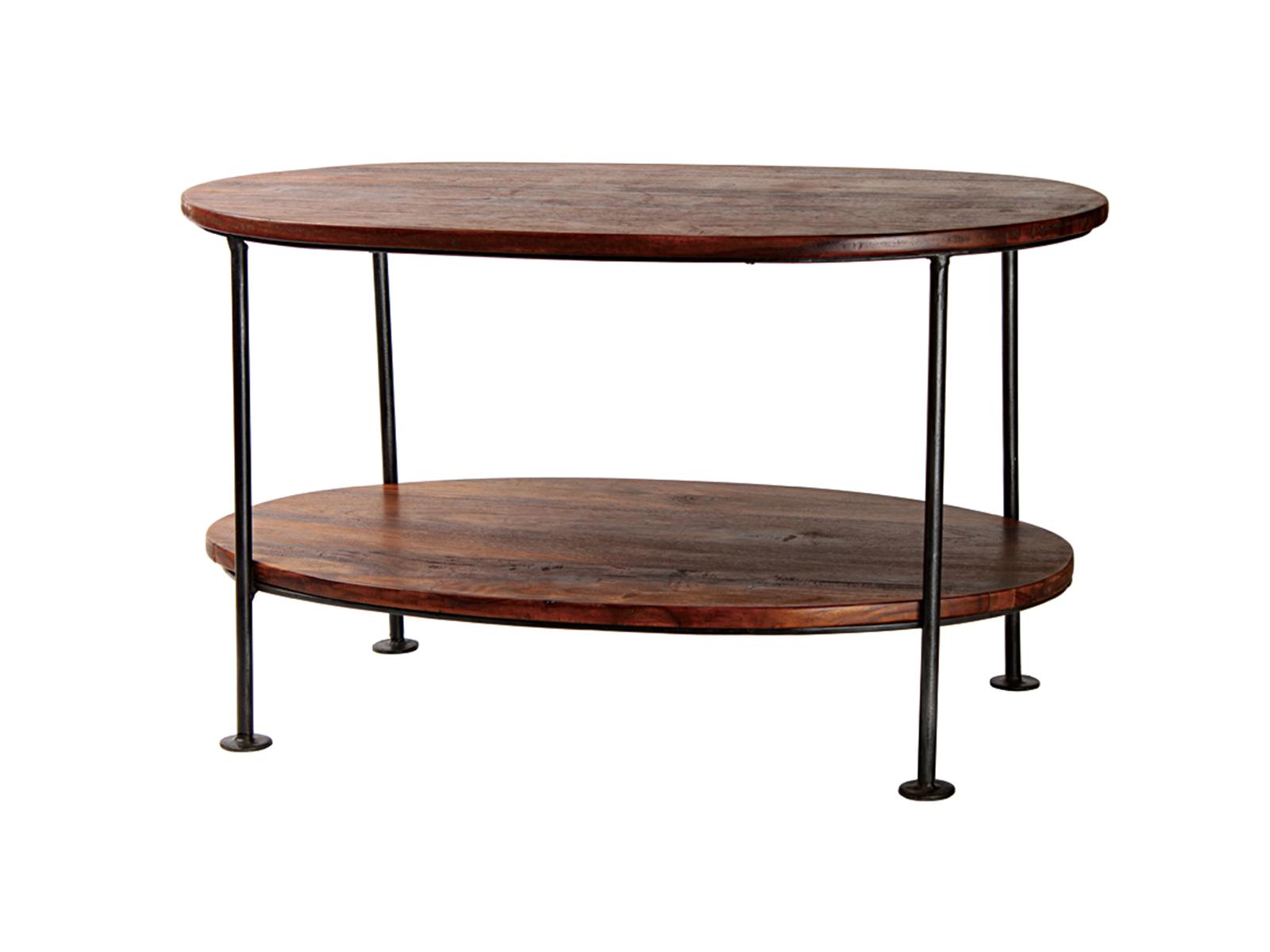 オーバル2段テーブル