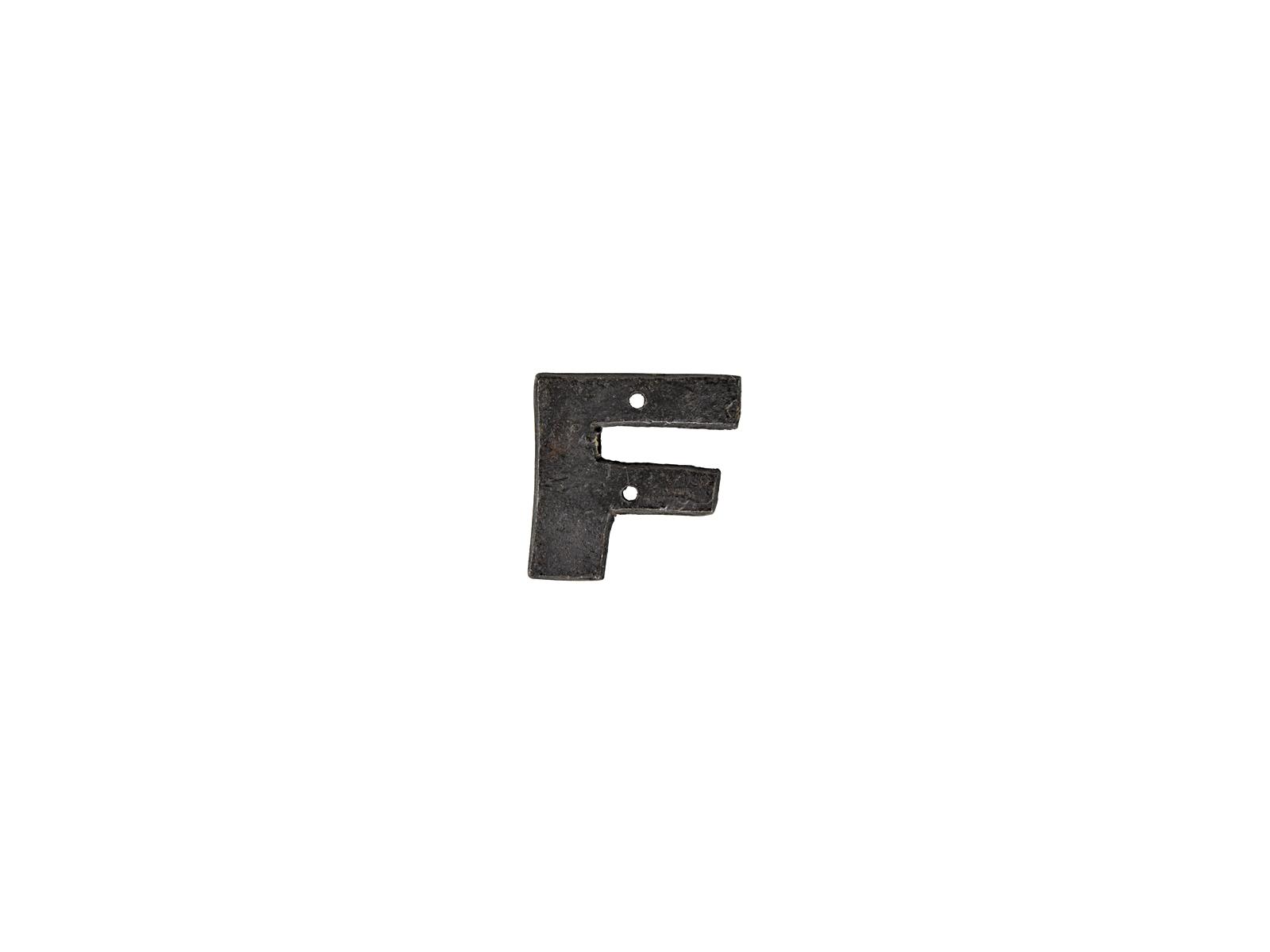 アルファベットプレートF