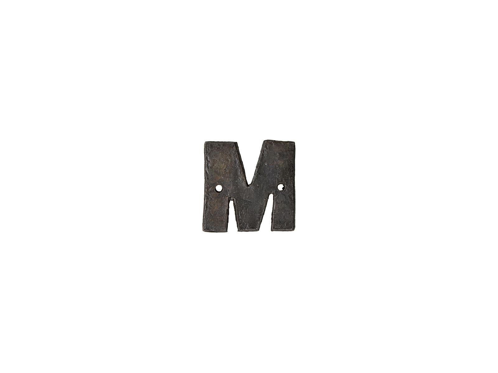 アルファベットプレートM