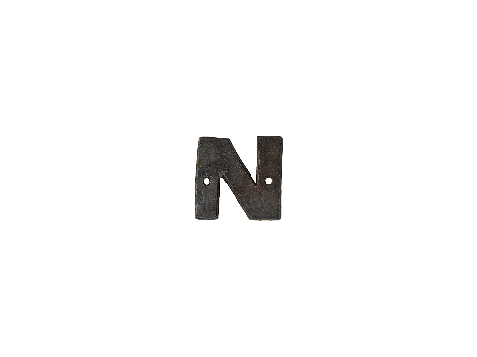 アルファベットプレートN