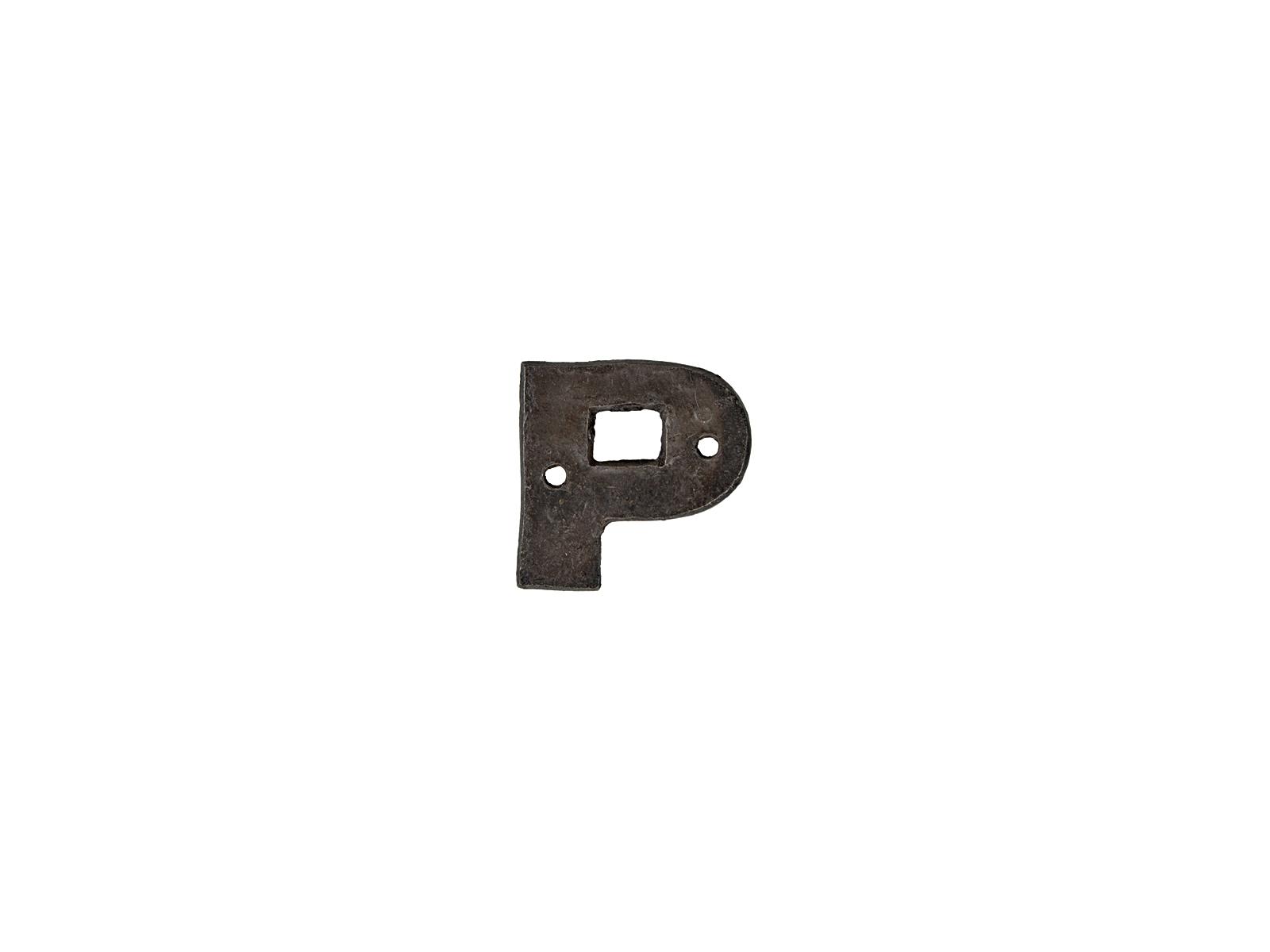 アルファベットプレートP