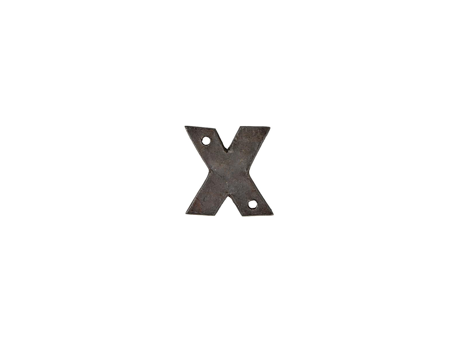 アルファベットプレートX