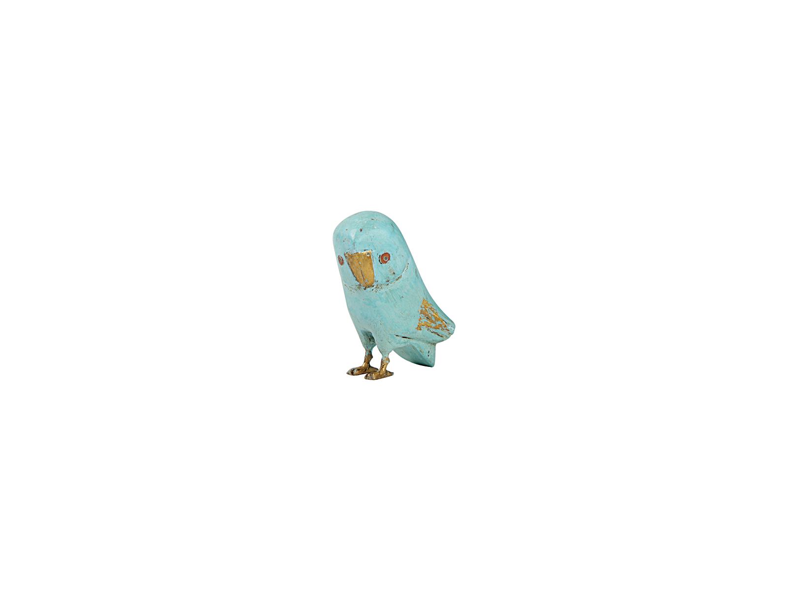フクロウ(ライトブルー小)