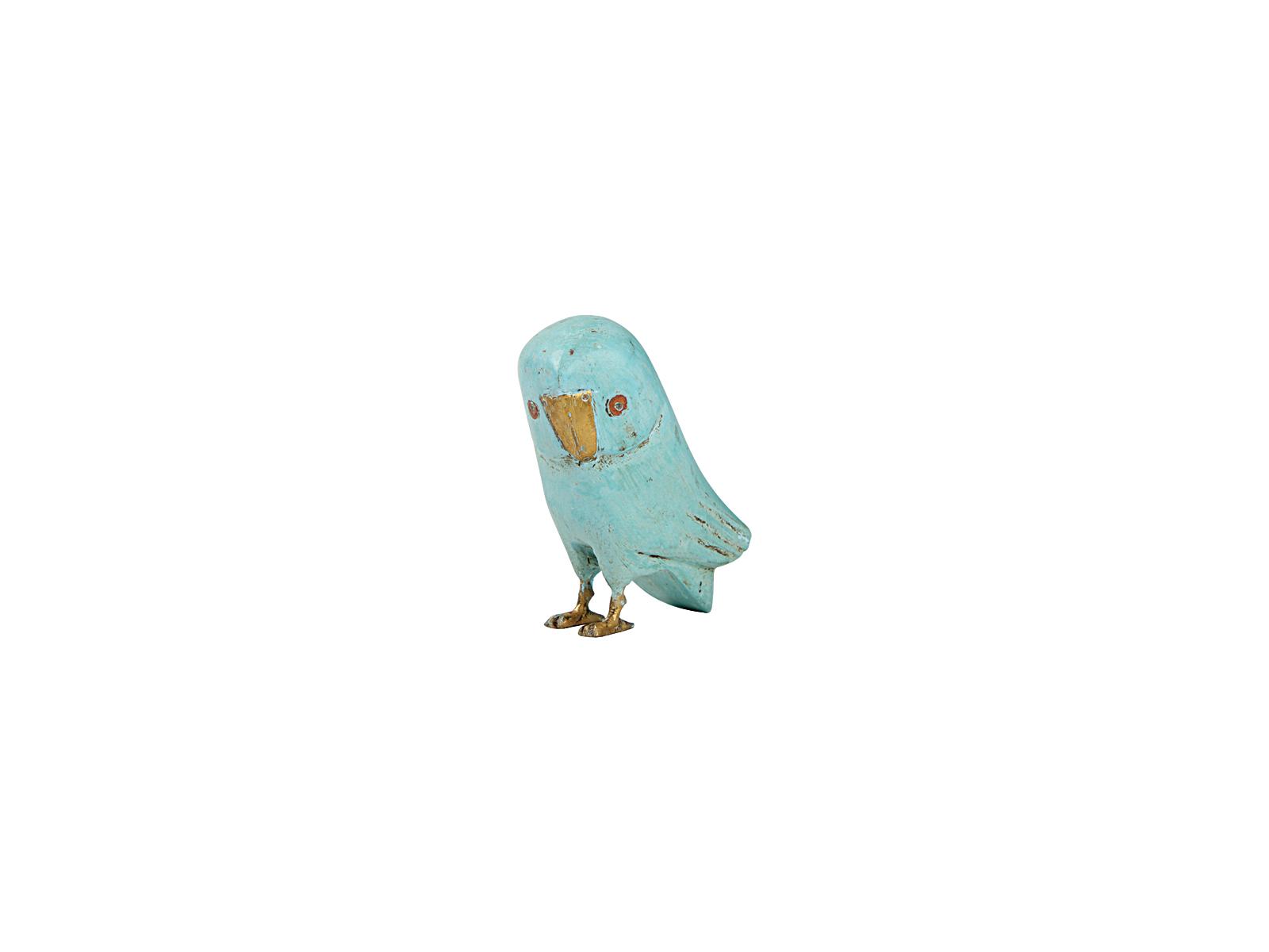 フクロウ(ライトブルー大)