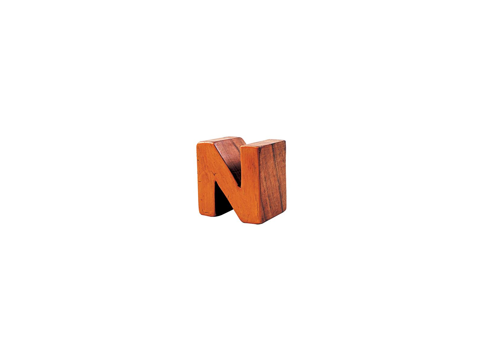 アルファベットブロックN