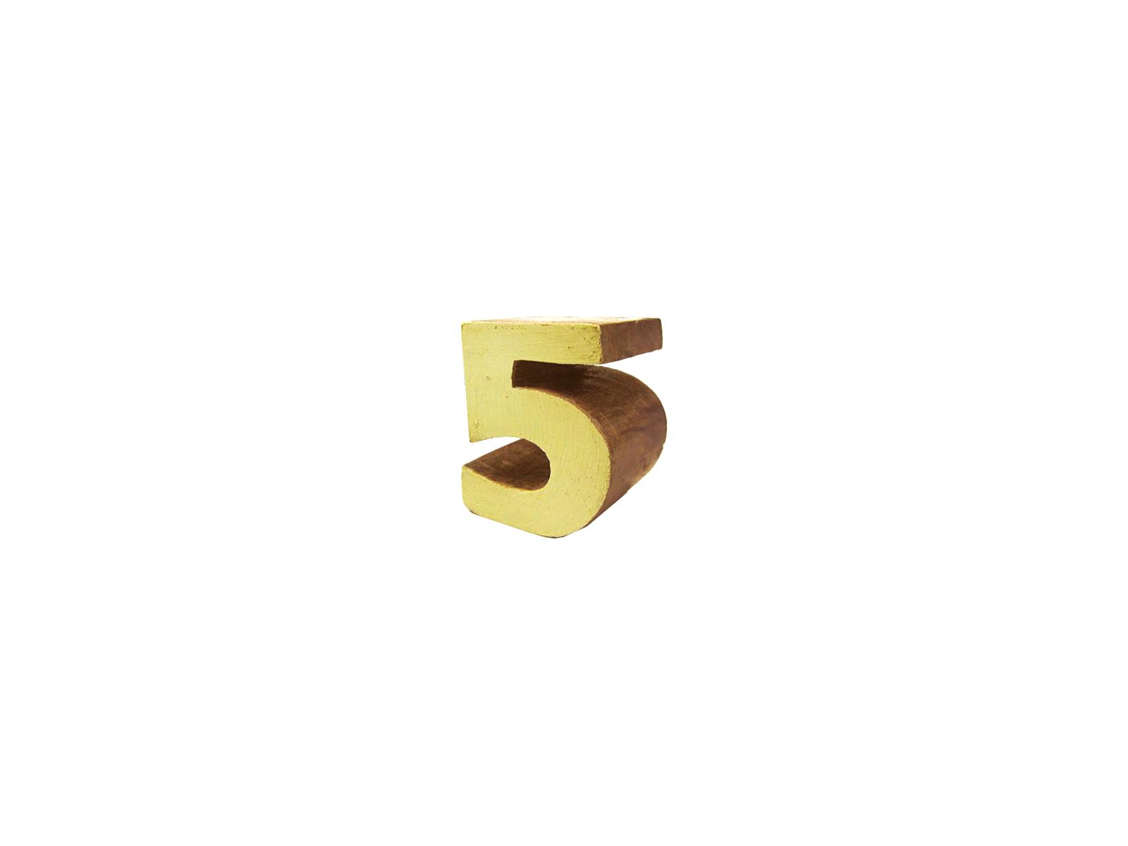 ウッドナンバーブロック5